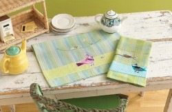 Bird Collage Tea Towels