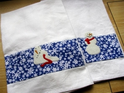 Snowmen Appliqué or Embroidery Patterns