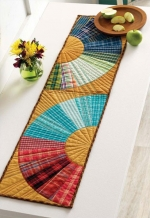 Plaid Curves Table Runner