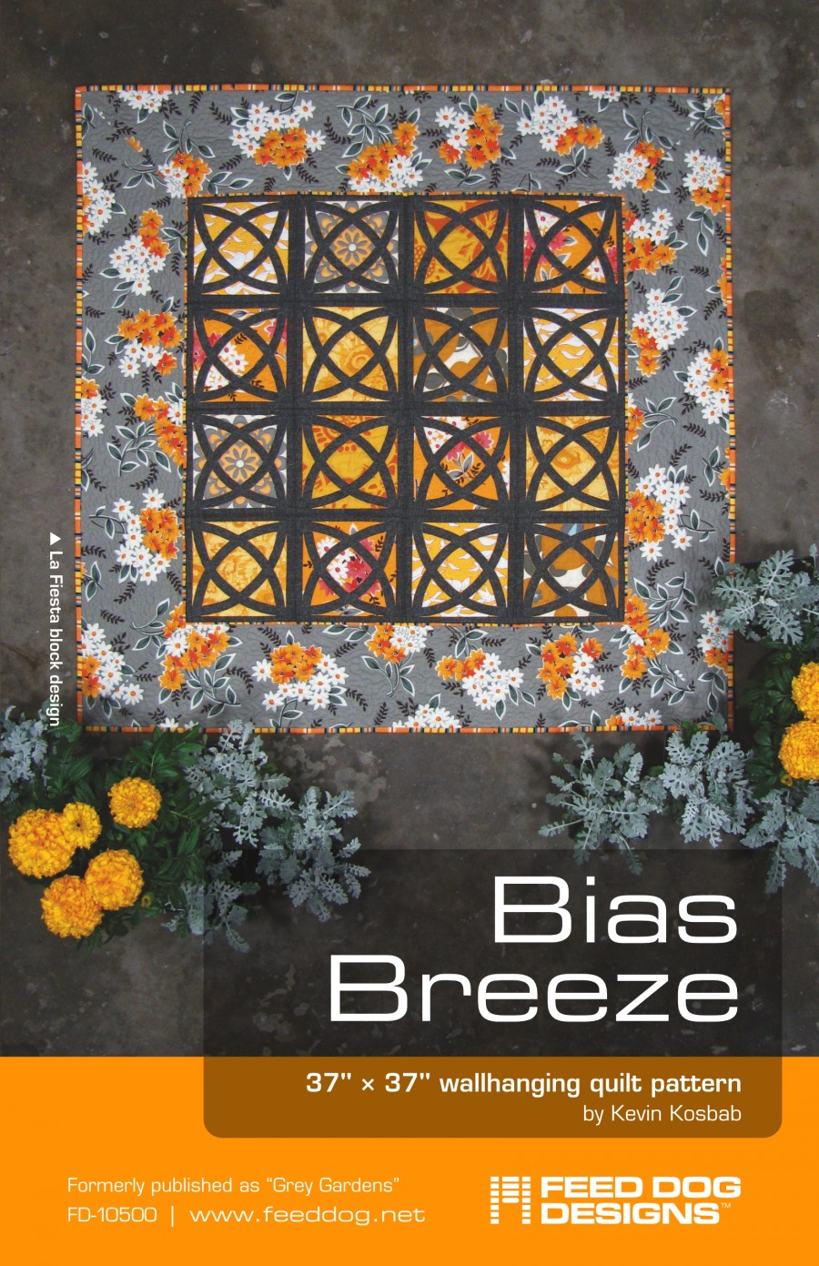 front cover featuring La Fiesta version of quilt